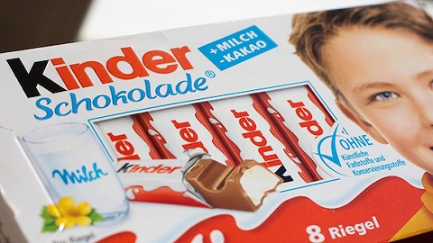 德国健达巧克力被指含致癌物芳香烃矿物油 国外已召回