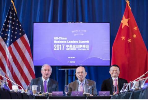"""首届""""中美企业家峰会"""":马云称不能因为昨天的问题而去制裁明天"""