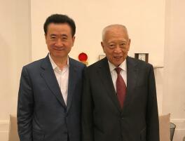 万达官网:王健林近日在香港拜会前特首董建华