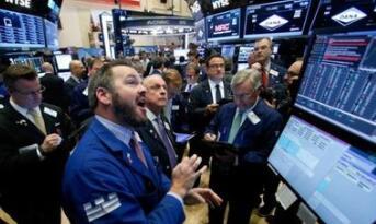 美国国债收益率上涨推动银行股普涨 道指再次站上25000点