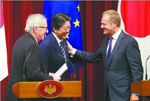 日本与欧盟联合起来抗击特朗普发动的贸易战