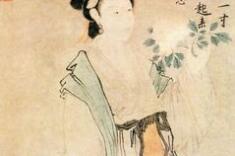 唐寅笔下的美女自然以清雅美丽、端庄生动